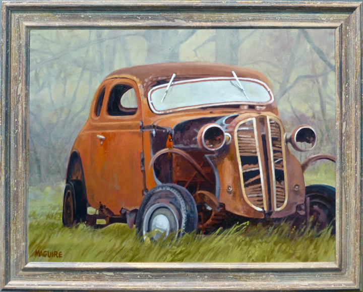 Berks County 1937 Dodge coupe rusted